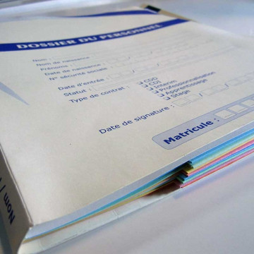 Dossier médical polypropylène
