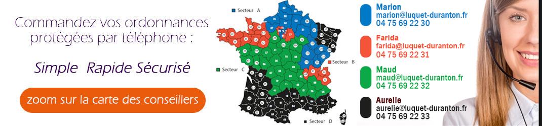 Carte commerciaux Luquet et Duranton