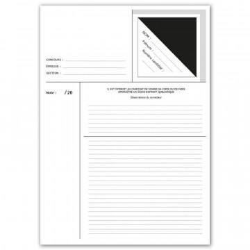 Copie d'examen simple ou...