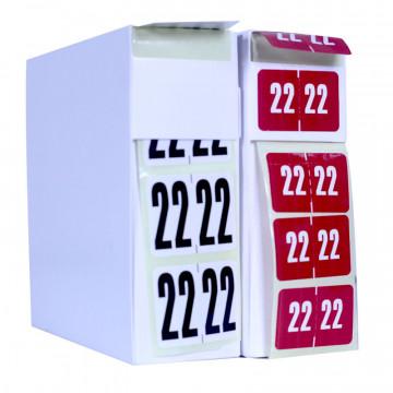 étiquettes autocollantes archivage millésime 2022