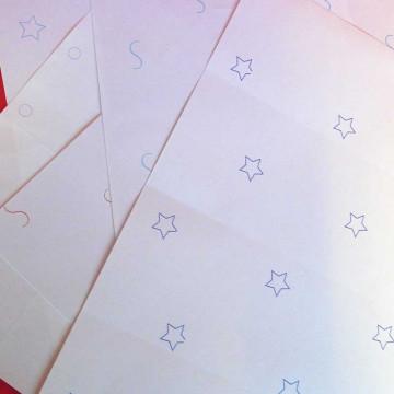 Étiquettes en planche fluos...