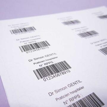 Étiquettes RPPS en planches...