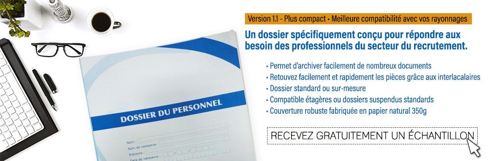 Dossier pour le classement des documents du personnel