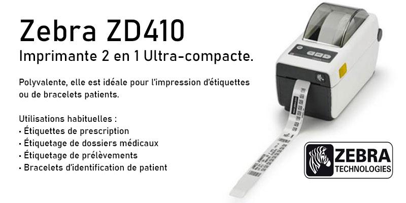 Photo imprimante thermique zerbra ZD 410