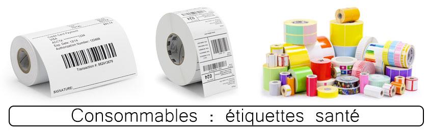 Rouleaux étiquettes pour imprimantes Zebra